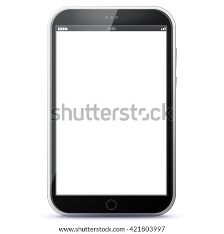 Tablet Computer Vector Illustration.