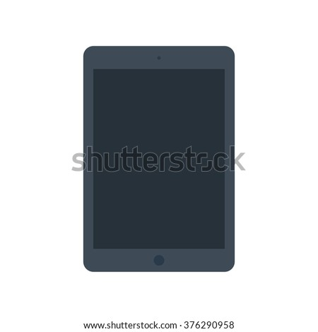Tablet computer with blank screen in ipad style. Vector illustration, EPS10. - stock vector