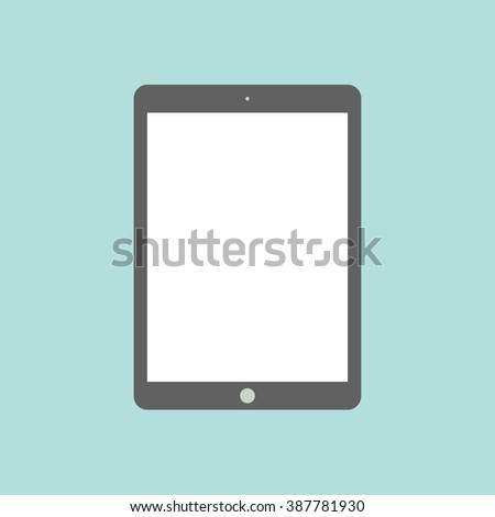 Tablet flat icon in ipad style. Tablet Icon Vector. Tablet Icon Drawing. Tablet Icon Image. Tablet Icon JPG. Tablet Icon JPEG. Tablet Icon EPS. Tablet Icon Picture. Tablet Icon Object. Tablet Icon Art - stock vector