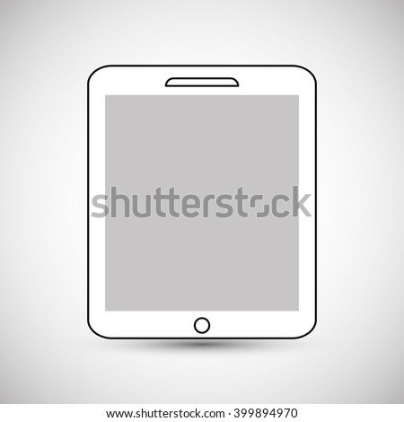 Tablet icon design, vector illustration