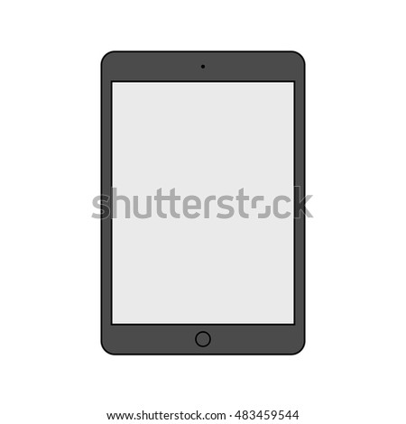 tablet ipad icon in the style thin line flat design isolated on white background. stock vector illustration eps10