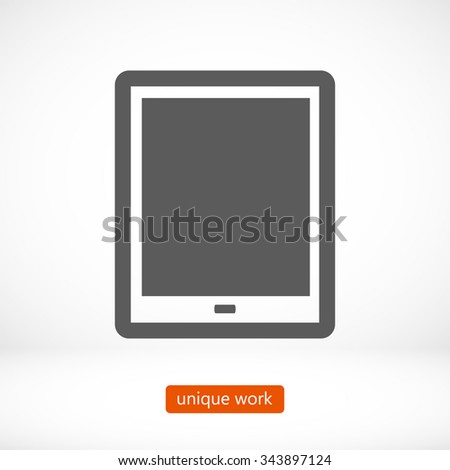tablet . line vector icon - stock vector