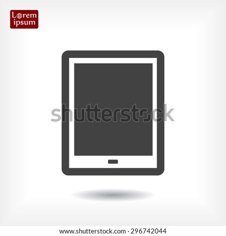 Tablet, line vector icon, EPS 10 - stock vector
