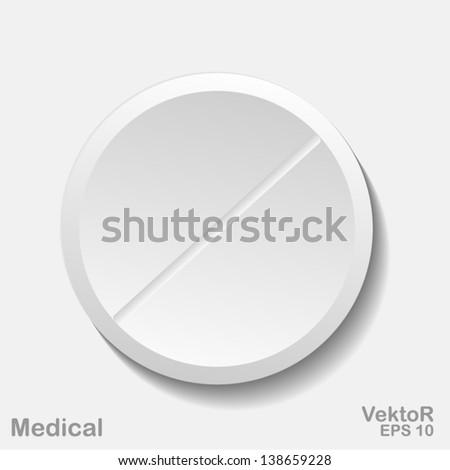 tablet, medicines - stock vector