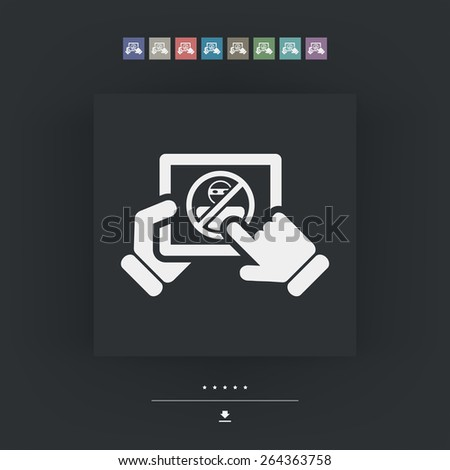 Tablet password accesss - stock vector