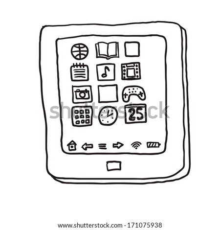 tablet pc. Drawing
