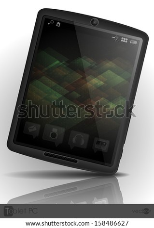 Tablet Pc & Mobile Phone. Vector Illustration. Eps 10.