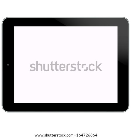 Tablet PC new Digital Computer Technology design on white background in vector