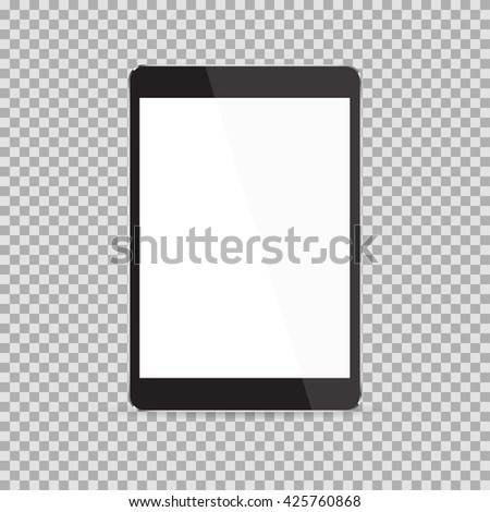 Tablet realistic icon in ipad style. Tablet Icon Vector. Tablet Icon Drawing. Tablet Icon Image. Tablet Icon JPG. Tablet Icon JPEG. Tablet Icon EPS. Tablet Icon Picture. Tablet Icon Object - stock vector
