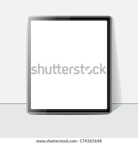 Tablet screen. Vector - stock vector