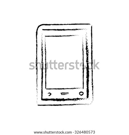 Tablet vector icon (logo, sign, symbol)
