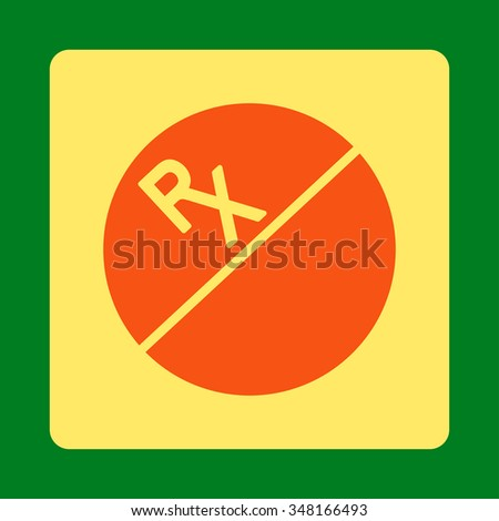 Tablet vector icon. Style is flat rounded square button, orange and yellow colors, green background.