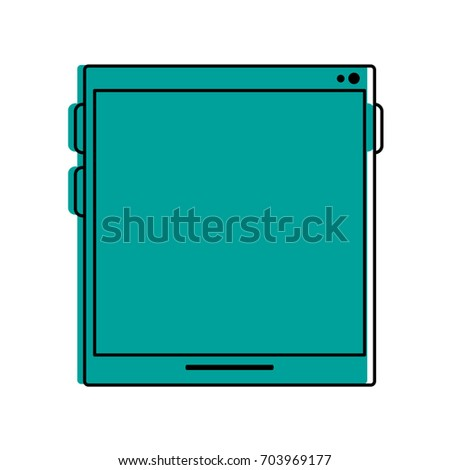tablet with blank screen icon image