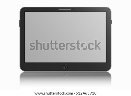 tablet with shadow on white background