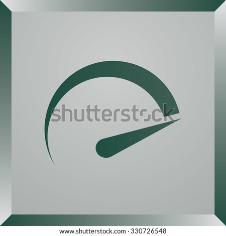 tachometer icon. Flat design style - stock vector