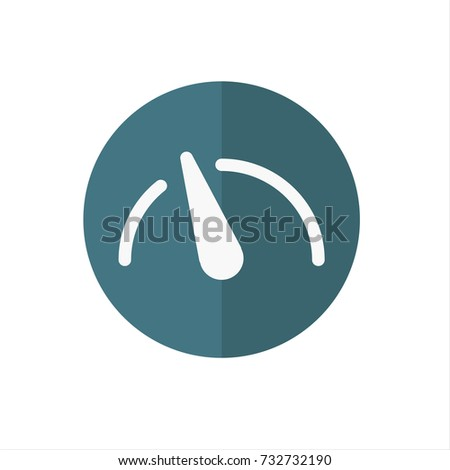 tachometer logo. tachometer icon in trendy flat style isolated on white background. symbol for your logo