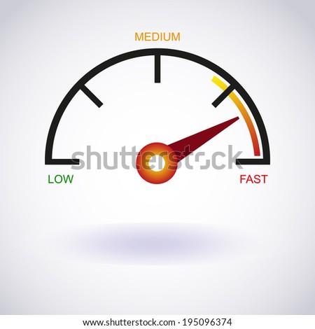 Tachometer icon. Vector EPS10 - stock vector