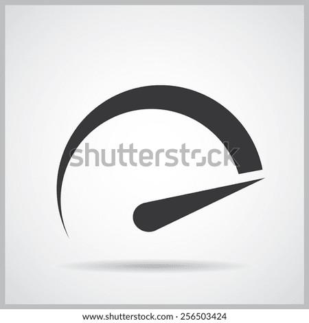 tachometer icon, vector illustration. Flat design style. - stock vector