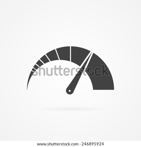 Tachometer sign icon. Car speedometer performance. - stock vector