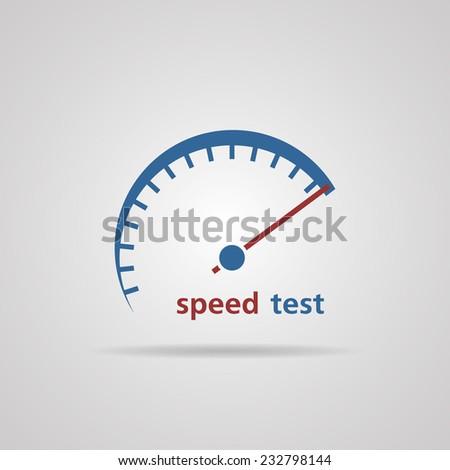 Tachometer, Speedometer symbol of speed test, business concept. vector illustrations  - stock vector
