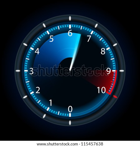 Tachometer. Vector illustration - stock vector
