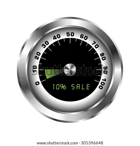Tachometer with sign for sale 10%