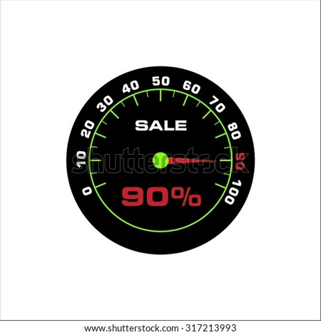Tachometer with sign for sale 90%