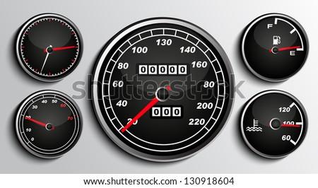 Tachometers - stock vector