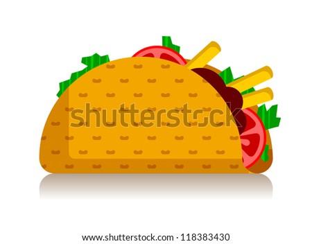 taco - stock vector