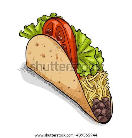 clipart taco salad 10 free Cliparts | Download images on ... |Taco Salad Coloring Pages