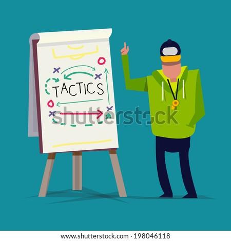Tactical Training. sport. presentation - vector illustration - stock vector