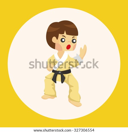 Taekwondo theme elements - stock vector