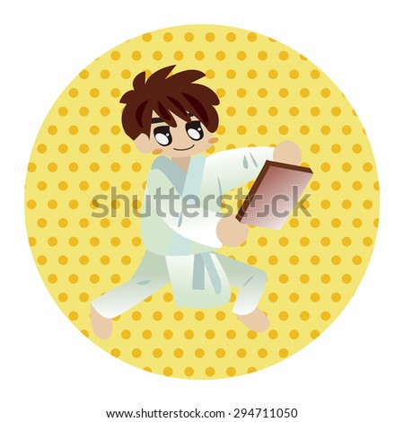 Taekwondo theme elements vector,eps - stock vector