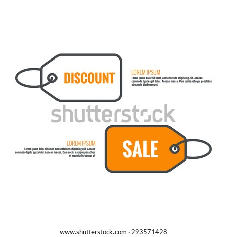 Tag and label icon. sale, discounts, specia offer,l Black Friday. Pictogram icon. - stock vector