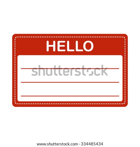 Tag badge holder or name introduction label. Vector Illustration. - stock vector