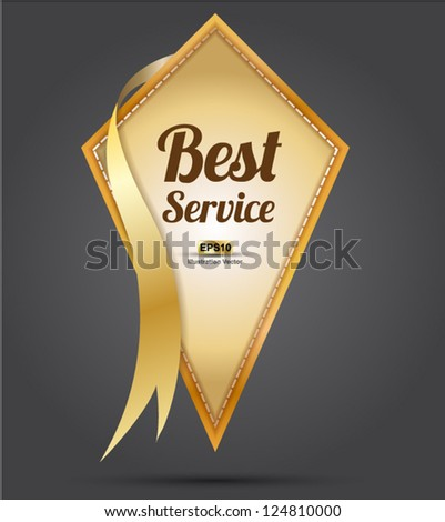 Tag Best services vector / tag label vector gold for special offer and customer services - stock vector