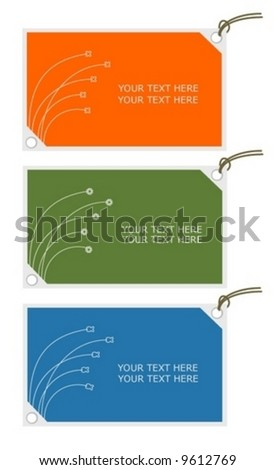 tag card abstract paper business mark vector design editable label - stock vector