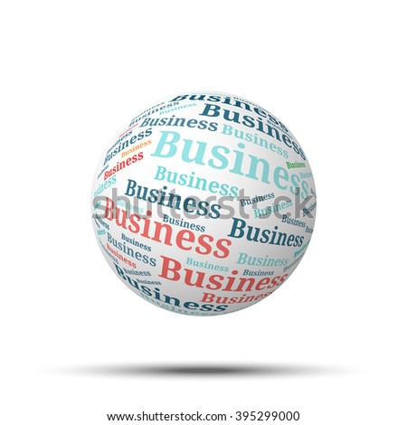 Tag cloud sphere Business, isolated on white background