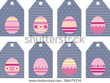 tag collection with easter eggs