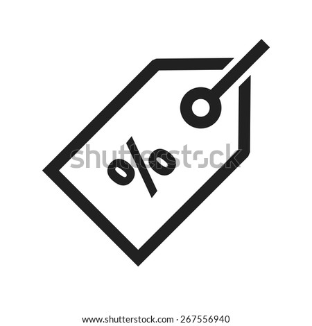 Tag, deal, offer, discount label icon vector image. Can also be used for ecommerce, shopping, business. Suitable for web apps, mobile apps and print media. - stock vector
