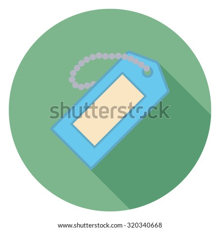 tag flat icon in circle - stock vector