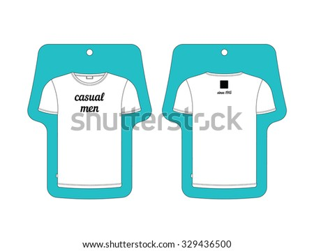 Tag in the form of t-shirt, made in vector, easy recolor. - stock vector
