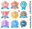 Tag label collection simply. Can use for promotion and product guaranteed. - stock vector