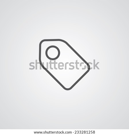 tag outline thin symbol, dark on white background, logo editable, creative template  - stock vector