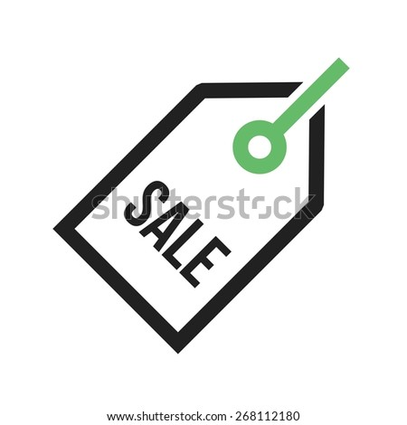 Tag, sale, label, offer icon vector image. Can also be used for eCommerce, shopping, business. Suitable for web apps, mobile apps and print media. - stock vector