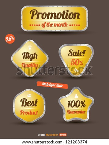 Tag sale promotion / high quality /best product / sale off / guarantee / can use for brochure / infographic