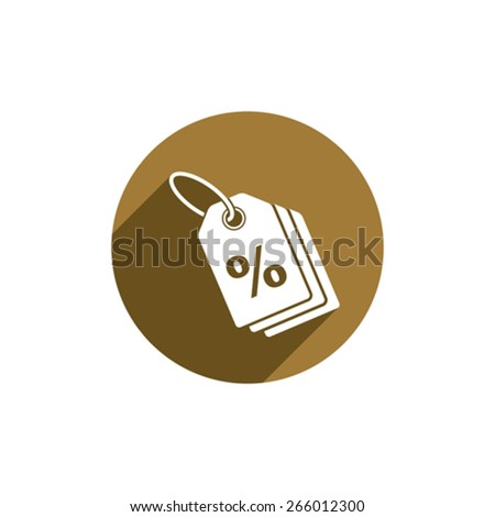 Tag vector icon isolated. - stock vector