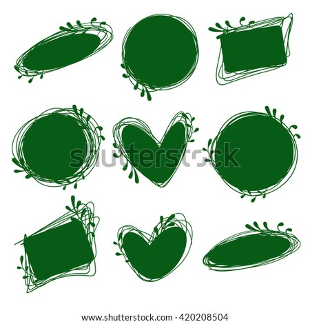 Tags set for inscriptions. Labels for organic products. Tags natural, dietary, useful products. Bio logos. Green labels - stock vector
