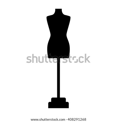 Tailor's dummy icon on white background. Atelier's detail. Dummy for atelier. Tailor's dummy logo on white background. Vector illustration. - stock vector