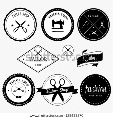 Tailor shop design - stock vector